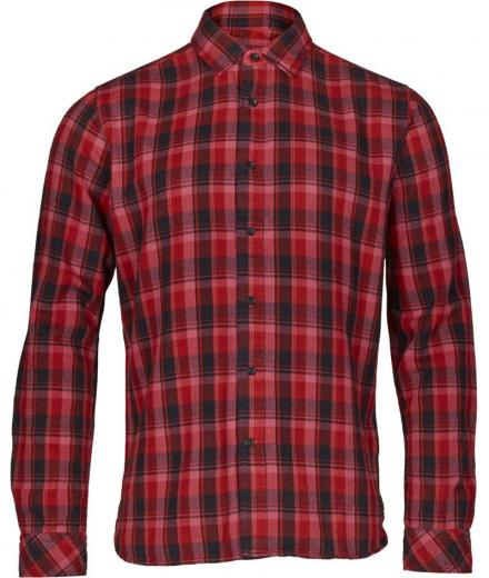 Knowledge Cotton Apparel Overdyed checked shirt