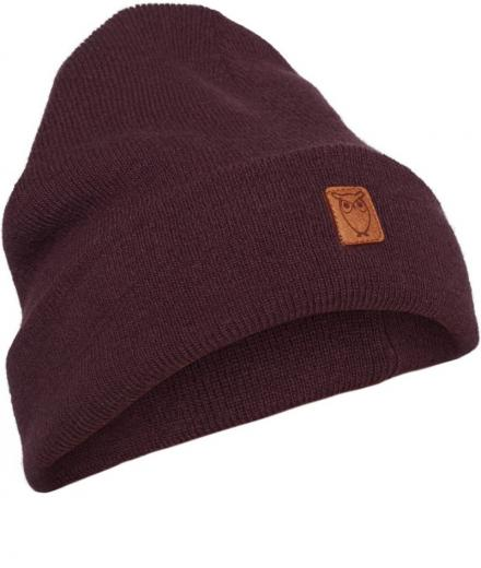 Knowledge Cotton Apparel Beanie organic wool decadent chokolade | onesize