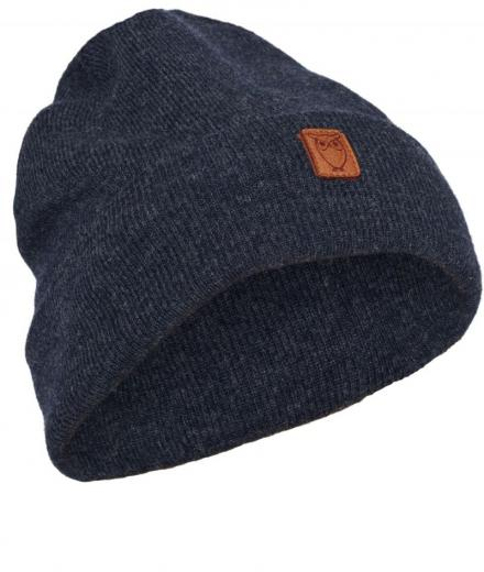 Knowledge Cotton Apparel Beanie organic wool insigna blue | onesize