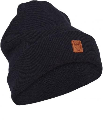 Knowledge Cotton Apparel Beanie organic wool Total Eclipse | onesize