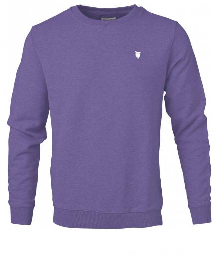 Knowledge Cotton Apparel ELM small owl sweat royal purple melange