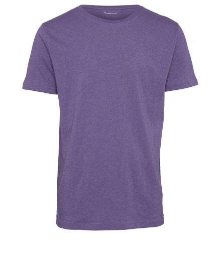 Knowledge Cotton Apparel ALDER basic tee Royal purple melange