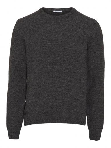 Knowledge Cotton Apparel Field reversed Wool Knit