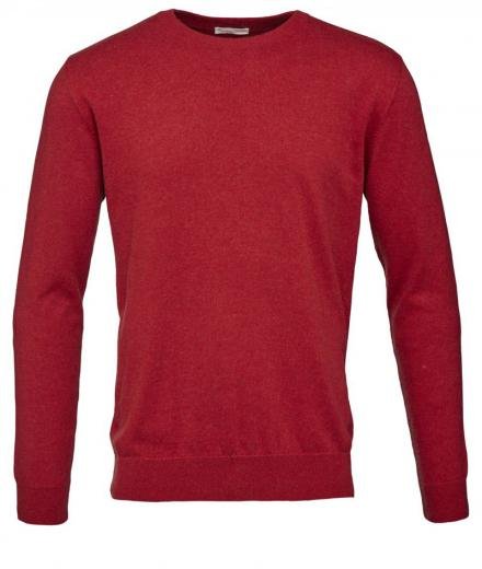 Knowledge Cotton Apparel Basic O-Neck Cotton/Cashmere - GOTS high risk red | L