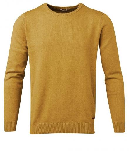 Knowledge Cotton Apparel Basic O-Neck Cotton/Cashmere - GOTS Arronwwood | L