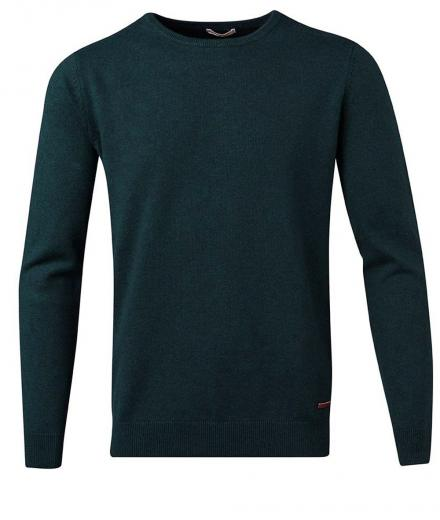 Knowledge Cotton Apparel Basic O-Neck Cotton/Cashmere - GOTS Green Gables | M