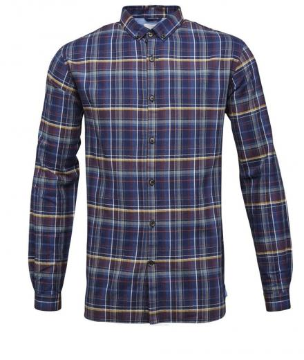 Knowledge Cotton Apparel Checked Shirt- GOTS