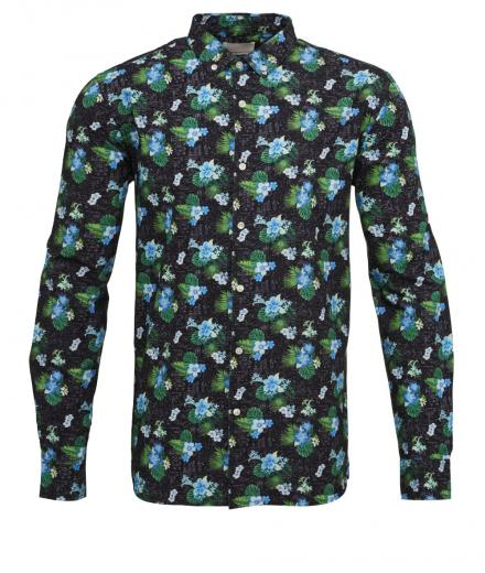 Knowledge Cotton Apparel Concept Print Shirt Poplin