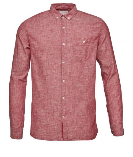 Knowledge Cotton Apparel Cotton/Linen Shirt high risk red | L