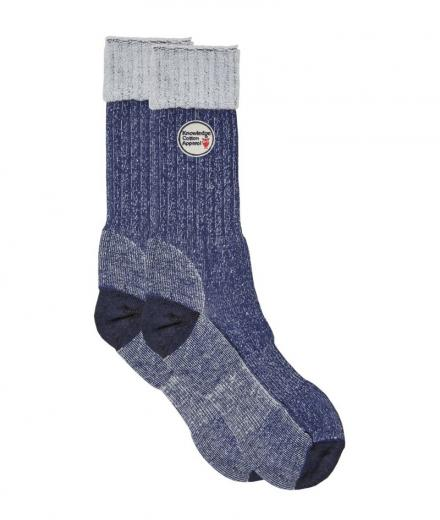 Knowledge Cotton Apparel Low Terry Socks Single Pack Total Eclipse | 38-42