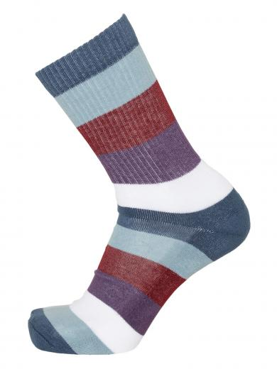 Knowledge Cotton Apparel LINDEN block striped 2 pack sock moonlite ocean