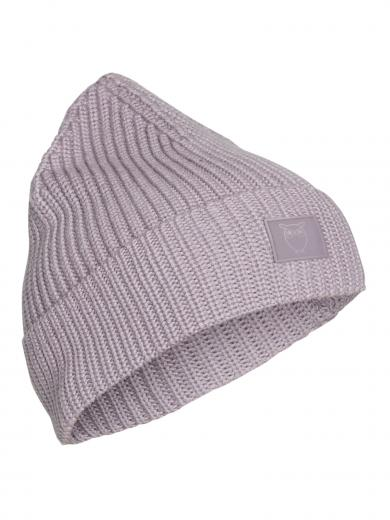 Knowledge Cotton Apparel Leaf Ribbing Hat Minimal grey