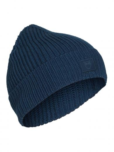 Knowledge Cotton Apparel Leaf Ribbing Hat Moonlite ocean