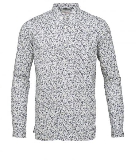 Knowledge Cotton Apparel Poplin Shirt W/All Over Flower Print