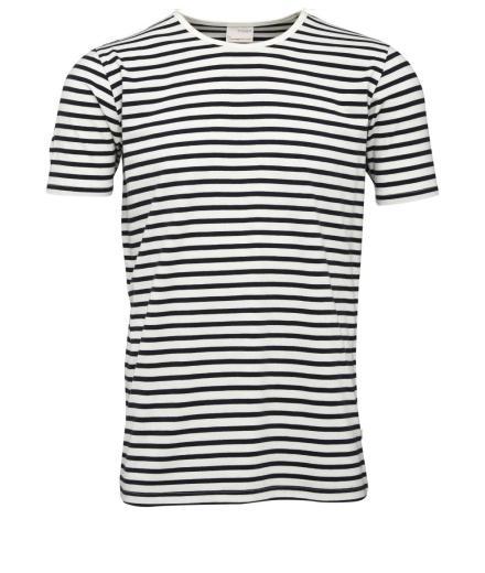 Knowledge Cotton Apparel Single Jersey Yarndyed Striped T-Shirt