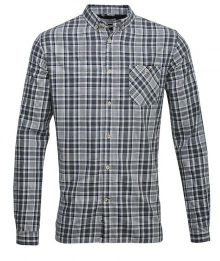 Knowledge Cotton Apparel Small Checked Flannel Shirt - winter white