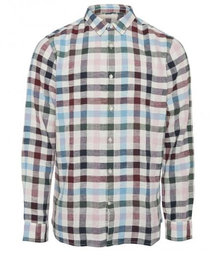 Knowledge Cotton Apparel Yarndyed checked shirt Bistro Green | S