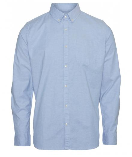 Knowledge Cotton Apparel Stretched Oxford Shirt Lapis Blue | M