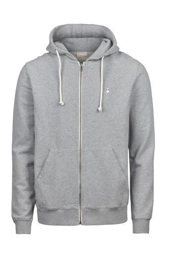 Knowledge Cotton Apparel ELM small owl zip hoodie sweat