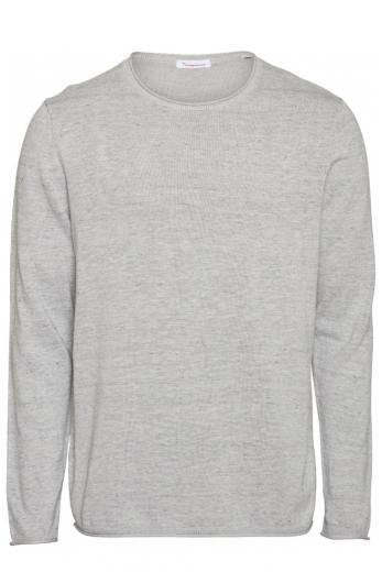 Knowledge Cotton Apparel FORREST o-neck tencel knit Grey Melange