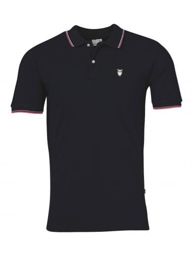 Knowledge Cotton Apparel ROWAN edge colored owl polo Total Eclipse | L