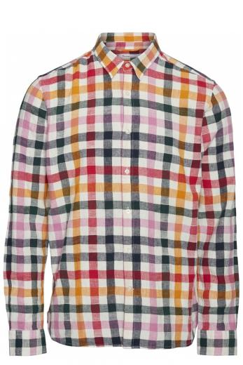 Knowledge Cotton Apparel LARCH LS checked shirt total eclipse