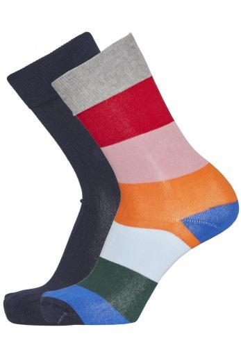 Knowledge Cotton Apparel TIMBER 2 pack striped socks