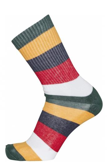 Knowledge Cotton Apparel LINDEN block striped 2 pack sock pineneedle | 43-47