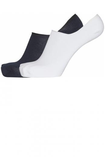 Knowledge Cotton Apparel WILLOW 2 pack footie socks Total Eclipse / Bright White   38-42