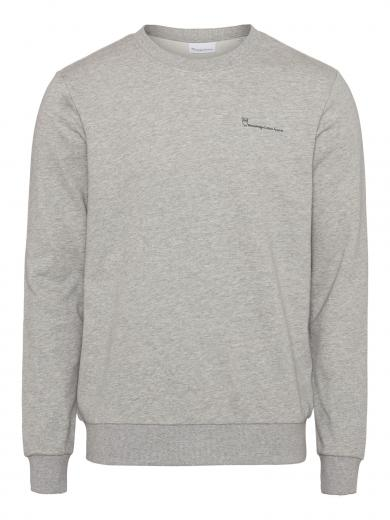 Knowledge Cotton Apparel Elm Knowledgecotton Sweat grey melange