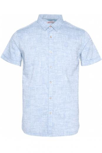 Knowledge Cotton Apparel LARCH SS linen shirt