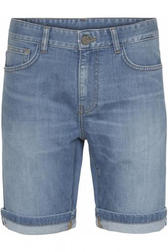 Knowledge Cotton Apparel OAK light blue selvedge demin shorts