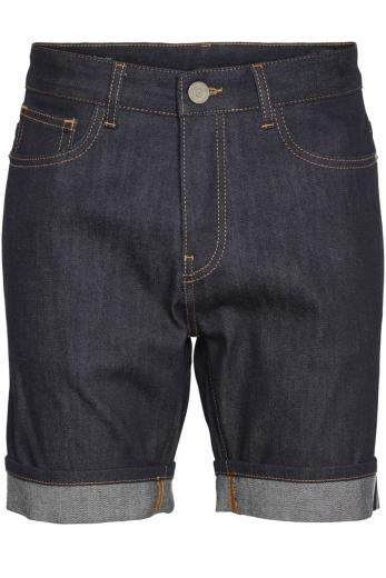 Knowledge Cotton Apparel OAK raw blue selvedge denim shorts Blue Raw
