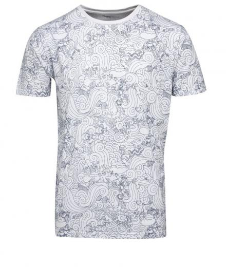 Knowledge Cotton Apparel T-Shirt Waste Print GOTS