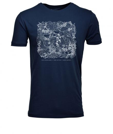 Knowledge Cotton Apparel T-Shirt W/Waste Print