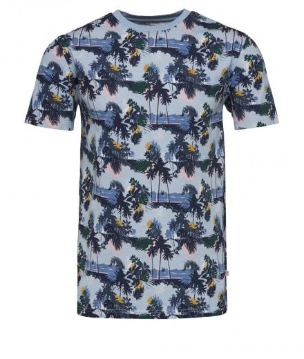 Knowledge Cotton Apparel T-Shirt All Over Seam Print