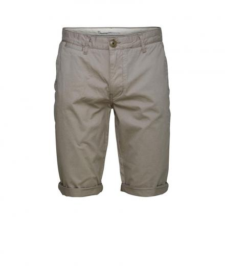 Knowledge Cotton Apparel Twisted Twill Shorts Greige | 32