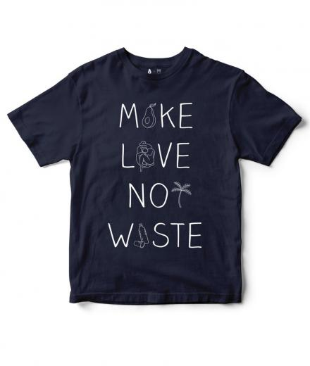 Knowledge Cotton Apparel Make Love Not Waste Total Eclipse | M