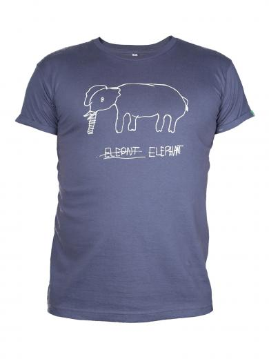 Kipepeo Clothing Shirt Elephant Charcoal Herren