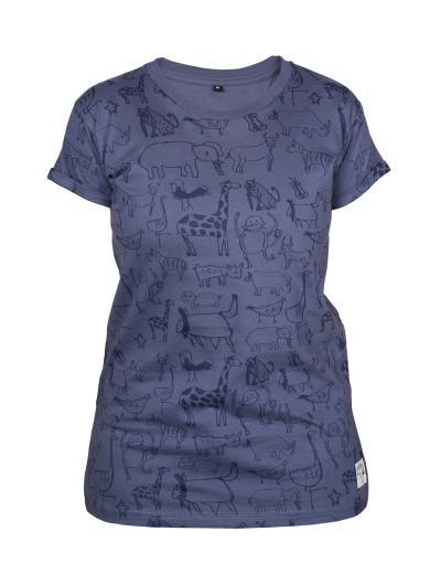 Kipepeo Clothing T-Shirt Wanyama Chorcoal Grey Damen chorcoal grey