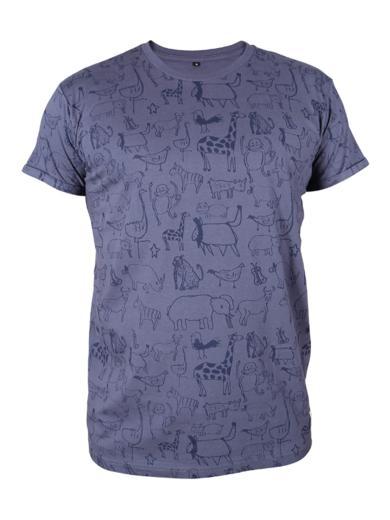 Kipepeo Clothing T-Shirt Wanyama Charcoral Grey Herren Charcoal Grau