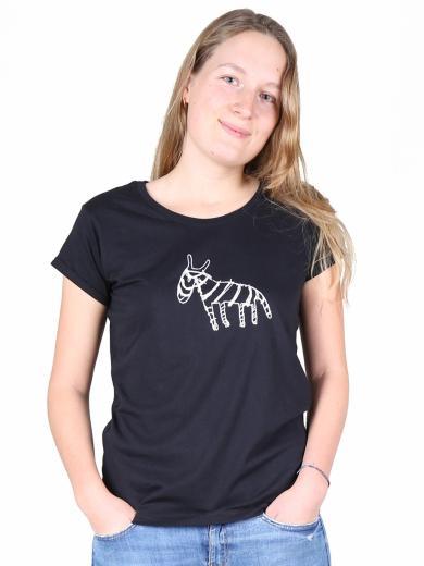 Kipepeo Clothing T-Shirt Zebra Damen schwarz