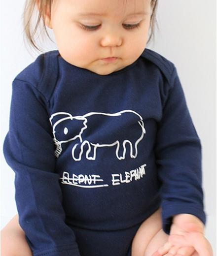 Kipepeo Clothing Elephant Baby Body Lang navy | 6-12M