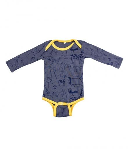 Kipepeo Karibu Duniani Baby Body Lang charcoalgrau | 3-6M