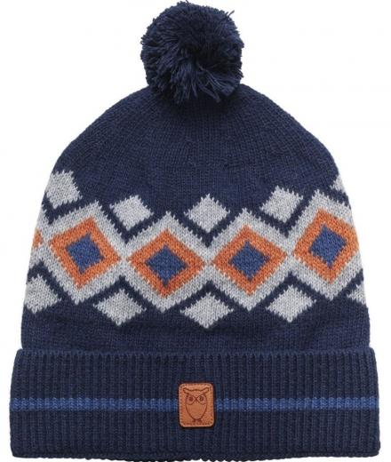 Knowledge Cotton Apparel Jacquard hat