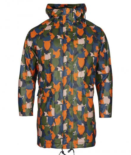 Knowledge Cotton Apparel Owl rain jacket