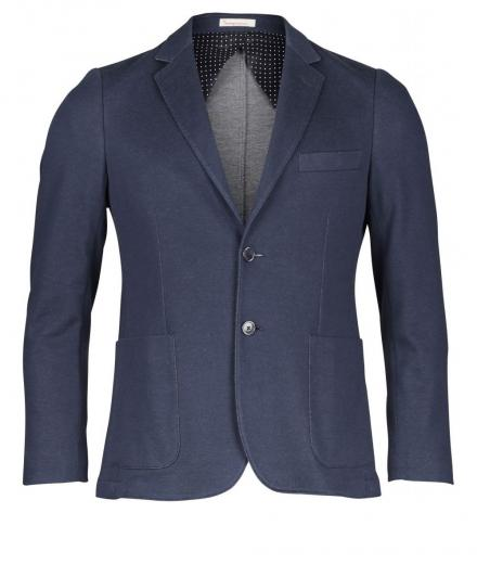 Knowledge Cotton Apparel Solid coll knitted blazer