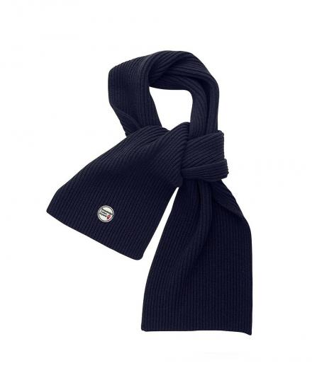 Knowledge Cotton Apparel Jaquard Knit Scarf Total Eclipse