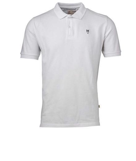 Knowledge Cotton Apparel Pique Polo GOTS Bright White | XXL