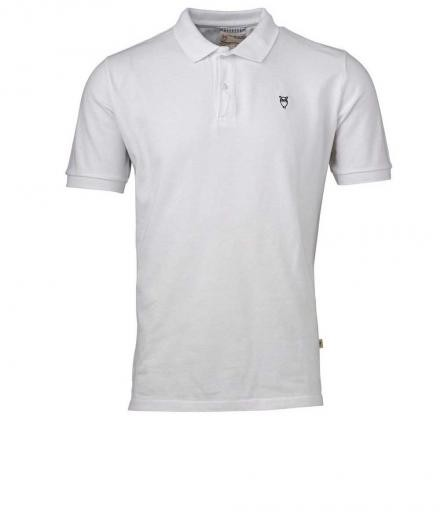 Knowledge Cotton Apparel Pique Polo Bright White